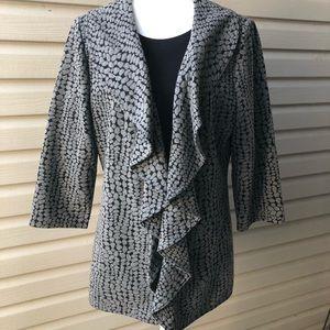 Calvin Klein drape open front blazer jacket sz 12